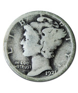 1921 Mercury Silver Dime 10¢ Coin Lot MZ 3160 - ₨2,371.37 INR