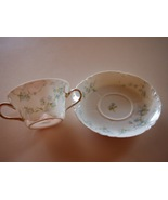 Haviland & Co. France Limoges Two Double Handled Blue Flower Tea Cup & S... - $54.95