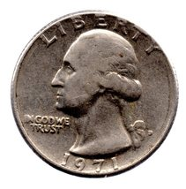 1971 P Washington Quarter - Circulated - Near ABU - $1.99