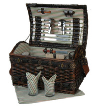 COUTURE COLLECTION WILLOW & SEAGRASS DELUXE PICNIC BASKET FOR FOUR (4) - A - $115.00