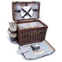 BRIO COLLECTION WILLOW & WOOD DELUXE PICNIC BASKET FOR TWO (2) - A - $103.00