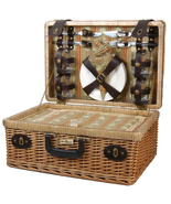 TERAZZO WILLOW PICNIC BASKET FOR FOUR (4) - $103.00