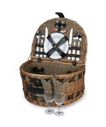 ESTATE WILLOW PICNIC BASKET FOR TWO (2) - £59.34 GBP