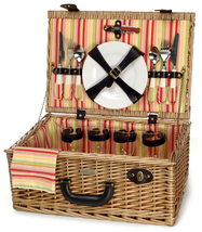 TERAZZO CARRIER WILLOW PICNIC BASKET FOR FOUR (4) - $78.00