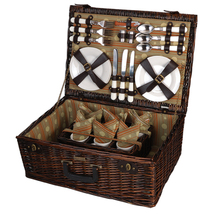 PROVENCE ENHANCED CARRIER WILLOW PICNIC BASKET FOR SIX (6) - $120.00