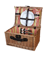 VERANDA COLLECTION WILLOW PICNIC BASKET FOR TWO... - $59.00