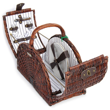 "WILLOW PICNIC BASKET FOR TWO (2) ""NEW"" - 2 - $98.00"