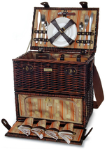 CLASSIQUE CARRIER WILLOW PICNIC BASKET FOR FOUR (4) - $129.00
