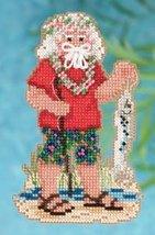 Tahiti Santa Ornament Kit 2012 tropical cross stitch kit Mill Hill - $6.30