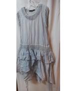 JP & Mattie Cute Light Blue Cotton Tier Dress or Layering Top L - $22.00
