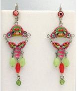 Signed ADAYA Maya Crystal Beads Mosaic Earrings - $58.00
