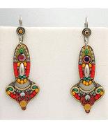 Signed ADAYA Maya Crystal Beads Mosaic Earrings - $62.00