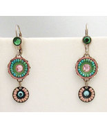 Signed ADAYA Maya Crystal Beads Mosaic Earrings - $35.00