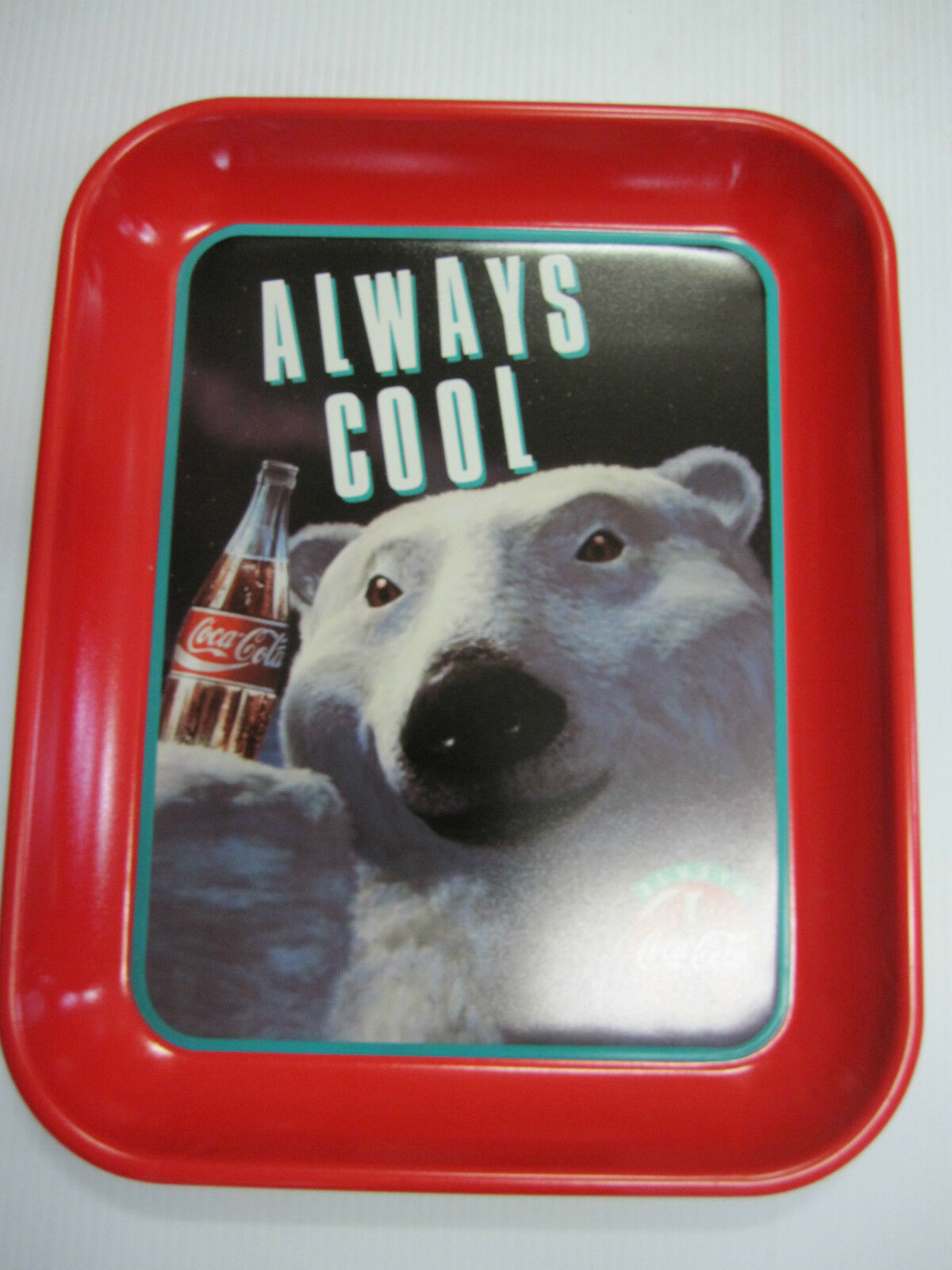 Primary image for Coca Cola Bear  Metal  Tray - New - Replica  CC-3