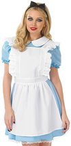 Womens Traditional Alice Costume Adults Fairytale Blue Character Dress image 2