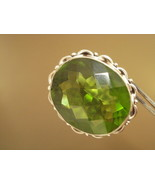 Sterling Silver Peridot Ring avalb - $120.00
