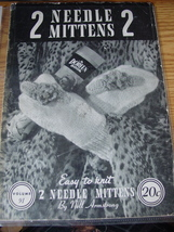 Craft Booklet 2 Needle Mittens (Knitting) #91 - $3.99