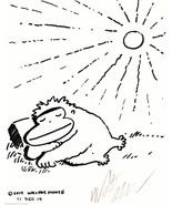 Dozy Ape Sleeping in the Sun. Original Signed Cartoon Art by Walter Moore - $9.44