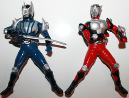 "Masked Rider Kamen Figures x 2 2002 Japan Banpresto 6"" Tall Rotating Arm... - $28.78"
