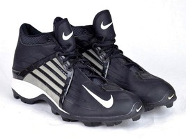 1d962b6b4a91 NIKE Black & White Football Cleats Field Training Athletic Mens Size 15  M - $54.44