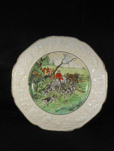 Crown Ducal Florentine Hunt Scene Plate 3 Horsemen with Hounds Signed 10... - $45.49