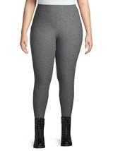 Terra & Sky Women's Sueded Full Length Leggings 4X (28-30W) Mid Rise Gra... - $13.85
