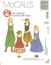 McCall's #9591 Girls' Jumper Pattern Size 3,4,5 UNCUT FF - $5.47
