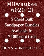 Milwaukee 6020-21 - 1/4 Sheet - 17 Grits - No-Slip - 5 Sandpaper Bulk Bundles - $7.14
