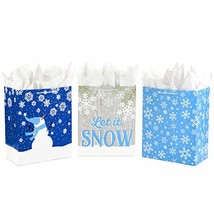 Hallmark Large Holiday Gift Bag Assortment with Tissue Paper, (Blue Pack... - $24.08