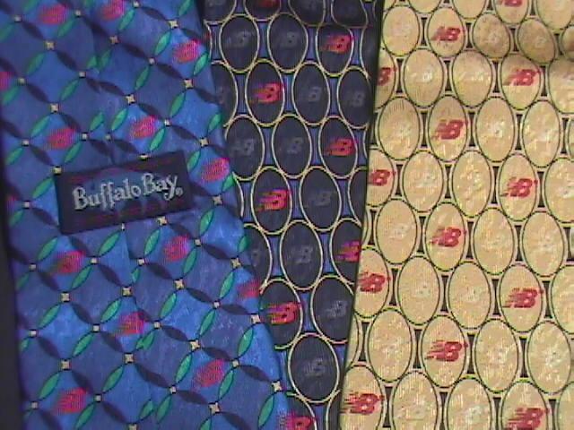Buffalo Bay New Balance Silk Neck Ties Three Black Blue and Yellow Promotional