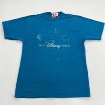 Vintage Mickey T_Shirt Mens L/XL Blue Short Sleeve Crew Neck Walt Disney World - $17.99