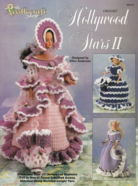 Primary image for Hollywood Stars II Crochet Pantaloons Parasol Wrist Corsage Hat Bonnet Girls OOP
