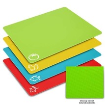 Flexible Cutting Board Mats Set, HISRAY Premium Plastic Chopping Easy to... - £9.17 GBP
