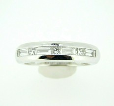 18k White Gold Ring with Round and Baguette Genuine Natural Diamonds (#J... - $1,700.00