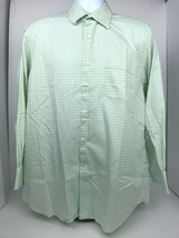Tommy Bahama Mens Size 16 Green Long Sleeve Button Up Shirt - $23.38