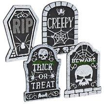 Halloween Creepy Tombstone Bundle Polyfoam x 4 - $20.14