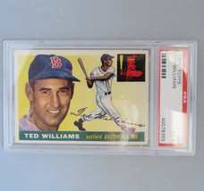1955 TOPPS Ted Williams #2, PSA Graded EX 5, Vintage Baseball Card - $325.00