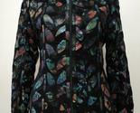 Black leather leaf jacket women design 04 genuine short zip up light lightweight 1 thumb155 crop