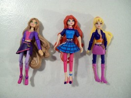 3 WINX CLUB MINI DOLL FIGURES STELLA BLOOM FLORA TRANSFORMATION CONCERT ... - $16.61
