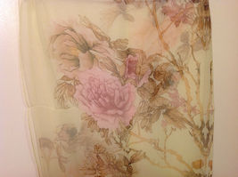 Peony Sheer Fabric Scarf, pastel colors of your choice image 6