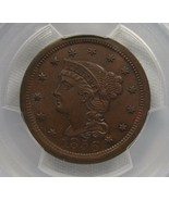 1856 Large Cent Upright 5 PCGS MS64 BN Coin AF654 - $544.96