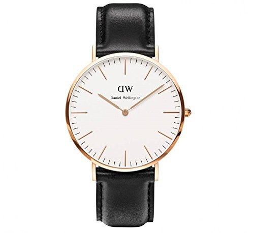 DW Men's/Women's Steel Watch with Leather/Nylon Band (40mm, DW00100007)