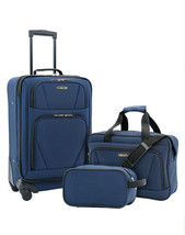 3-Piece Carry-On Luggage Set Expandable 4-Wheel Travel Suitcase Spinner ... - $51.45