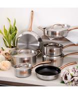 Fleischer and Wolf London Tri-Ply 12-Piece Cookware Set Pots and Pans - $236.61