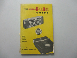 Stereo Realist Guide Vintage Camera Resource Owner Manual 1952 - $18.00