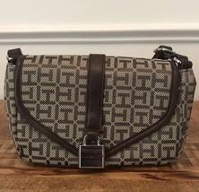 TOMMY HILFIGER Crossbody Bag Women Purse Flap Shoulder Bag Brown NEW NWT... - $37.61