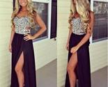 Long black sleeveless side slit chiffon formal party evening dresses pd0047 thumb155 crop