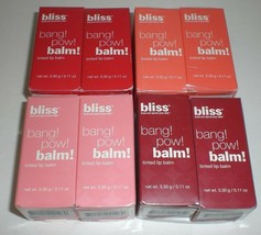 Bliss Tinted Bang Pow Tinted Shiny Lip Balm New Pack of 4 Choose Your Color - $24.99