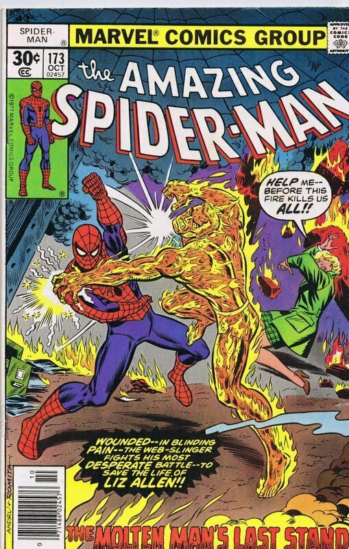 Primary image for Amazing Spiderman #173 ORIGINAL Vintage 1977 Marvel Comics Molten Man