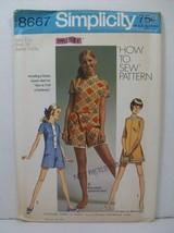 Simplicity Sewing Pattern 8667 Junior Size 11 Mini-Pantdress Romper Uncu... - $12.23